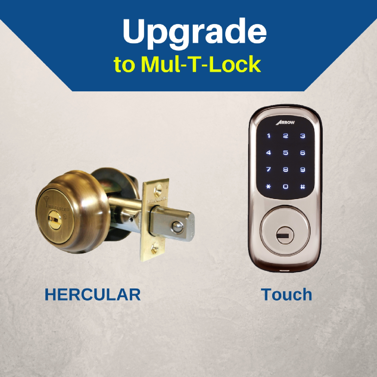 Upgrade your lock to a modern deadbolt with Mul-T-Lock