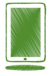 green-ipad