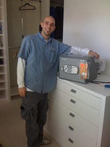 Our technician delivering a small safe.